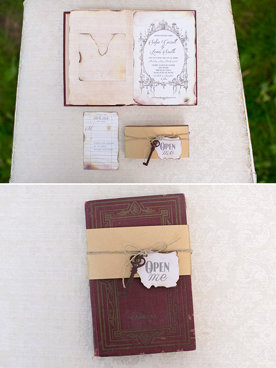 book inspired wedding invite @weddingchicks