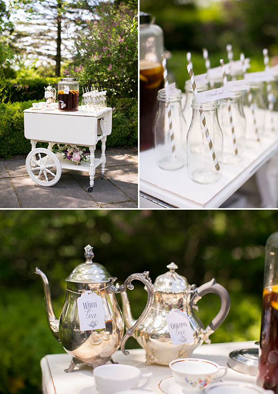 darling vintage tea cart @weddingchicks