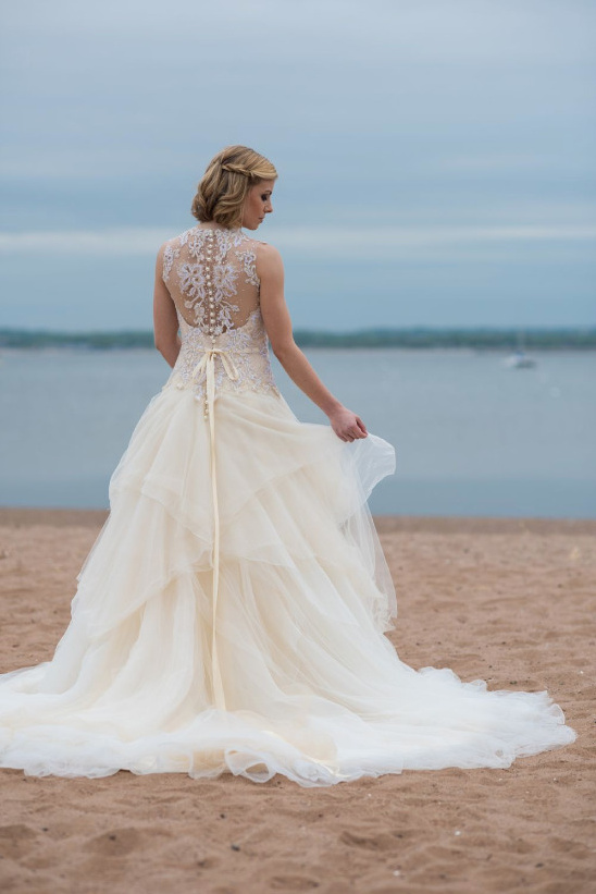 Sequin embellished ball gown from Ever After Bridal @weddingchicks