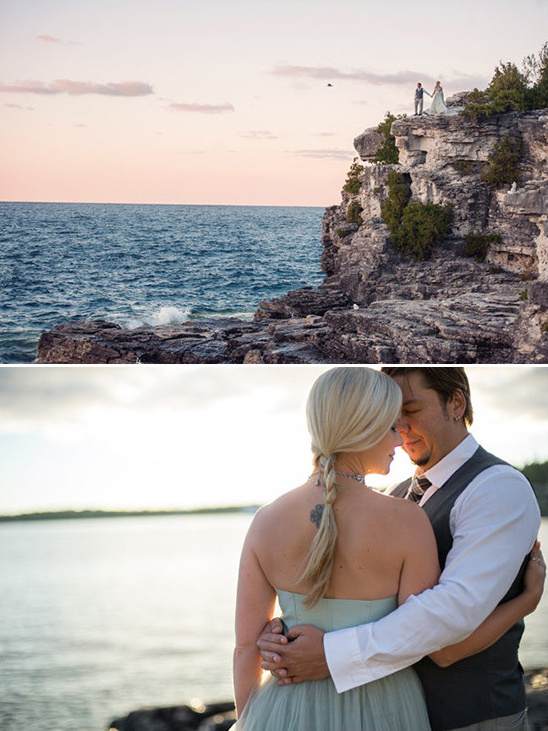 beach sunset wedding photos @weddingchicks