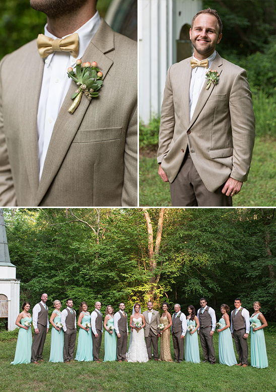 gold and mint groomsmen @weddingchicks