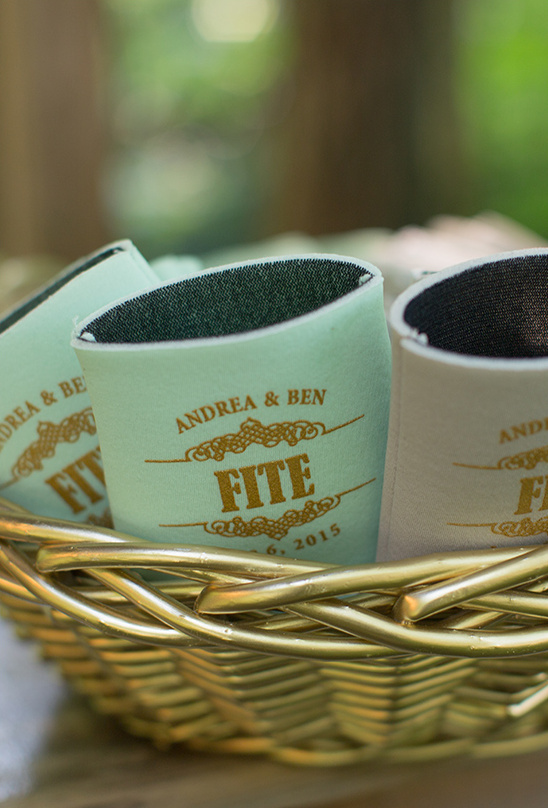 coozie wedding favors @weddingchicks
