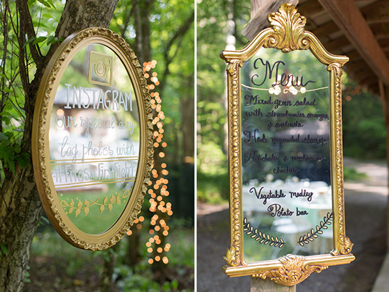 mirror wedding signs @weddingchicks
