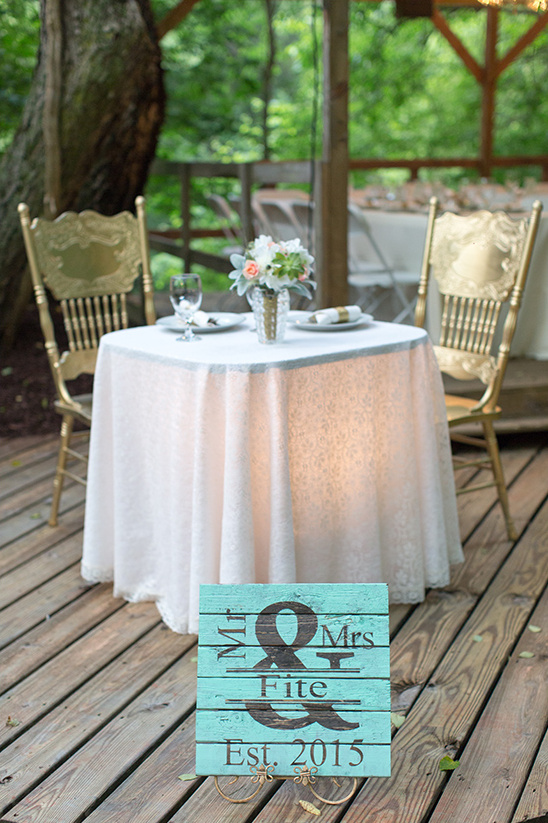 sweetheart table mint and gold @weddingchicks