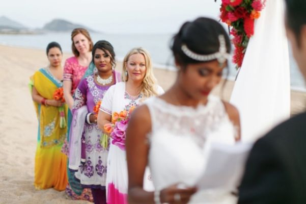 Colorful Beach Wedding in Greece