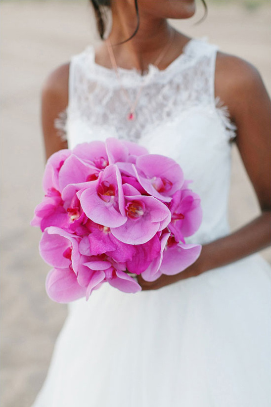 pink orchid bouquet @weddingchicks