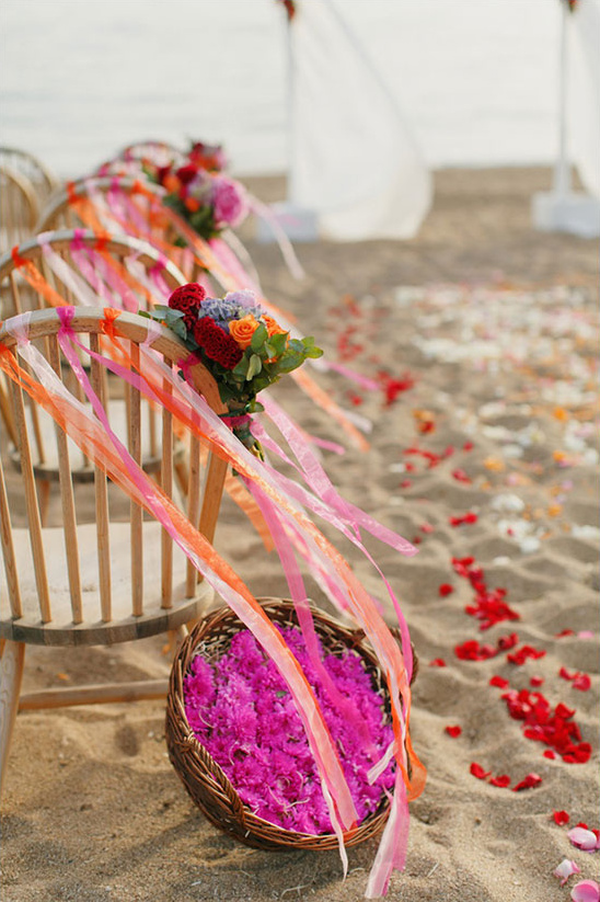 pink beach ceremony @weddingchicks