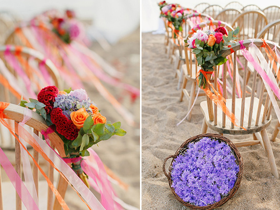 beach ceremony decor @weddingchicks
