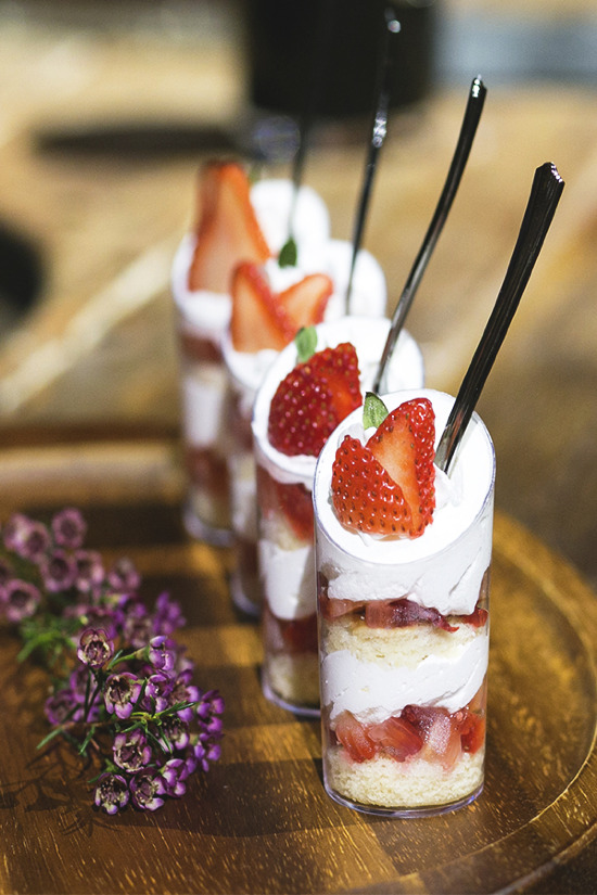 Strawberry shooters from Orange County's Colette's Catering & Events @weddingchicks