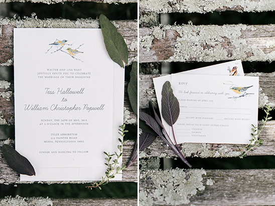 bird theme wedding invitations @weddingchicks