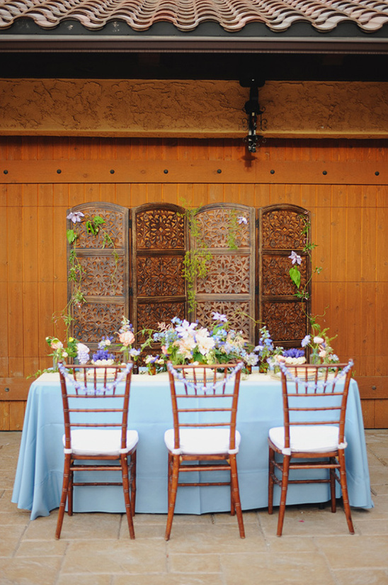 whimsical blue reception ideas @weddingchicks