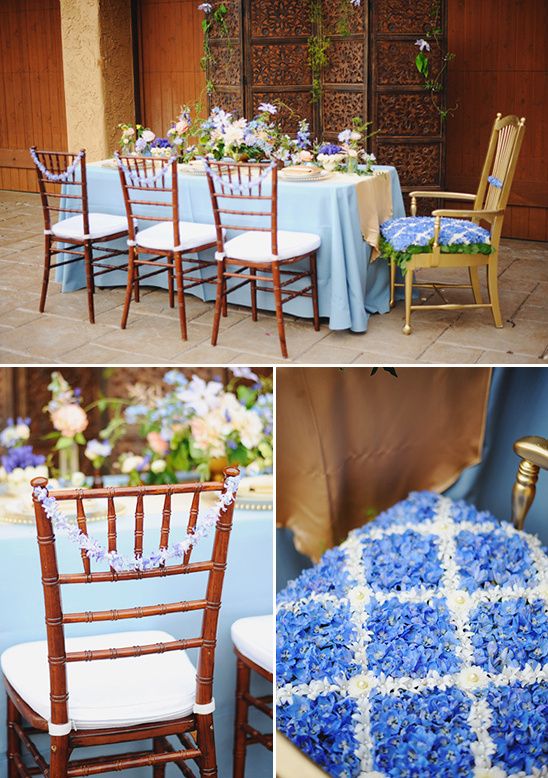 floral chair decor @weddingchicks