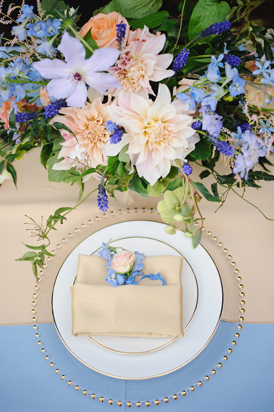 pretty pastel place setting @weddingchicks