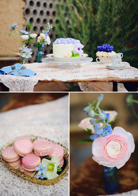 pink and blue wedding dessert table @weddingchicks