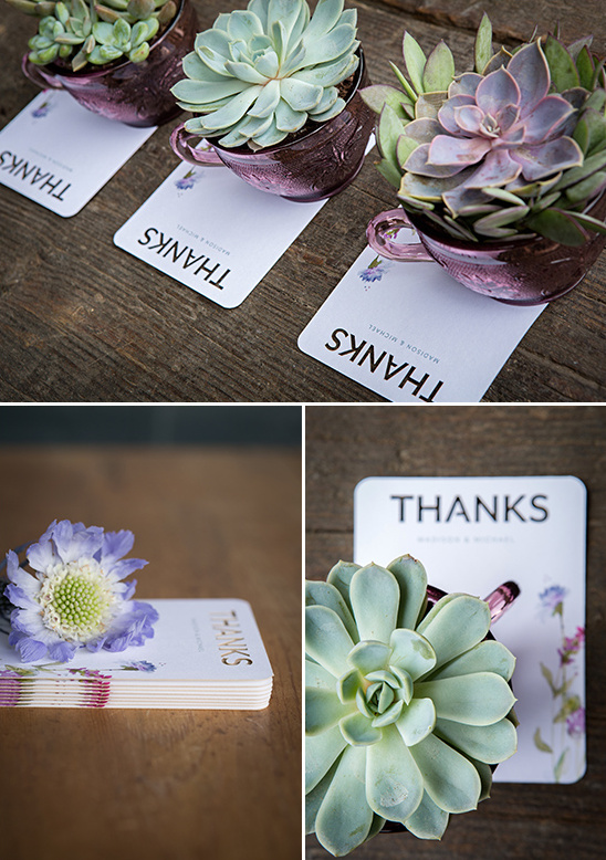 succulent thank you ideas @weddingchicks