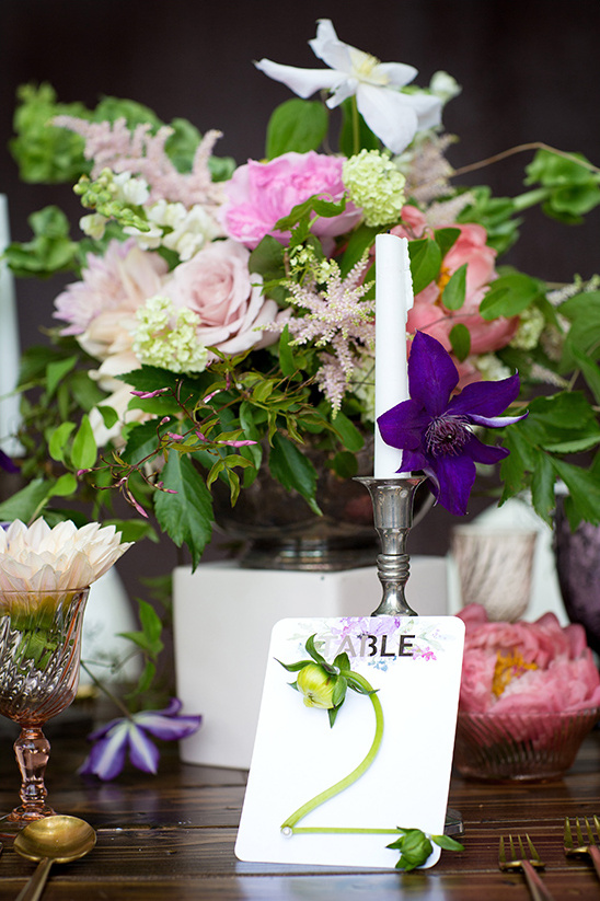 flower table number ideas @wedingchicks