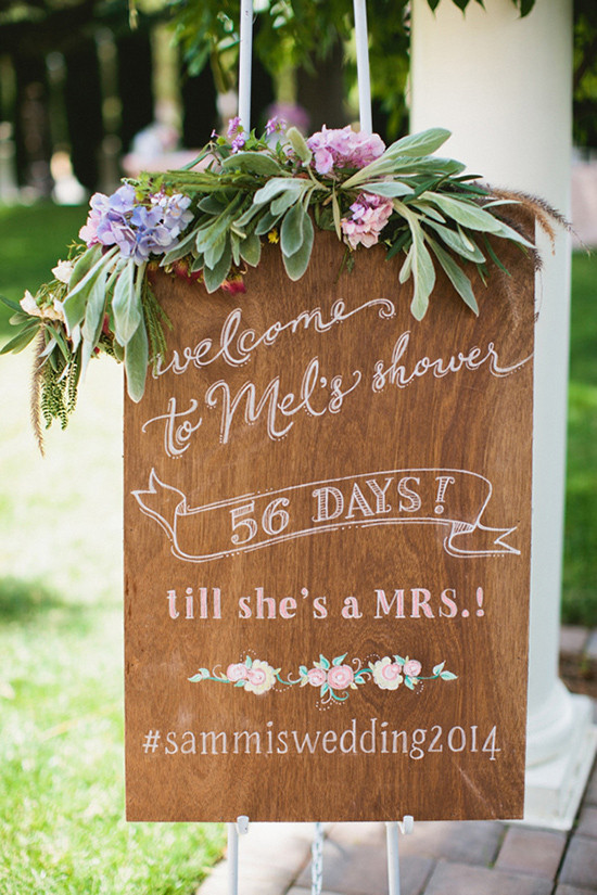 bridal shower wedding sign @weddingchicks