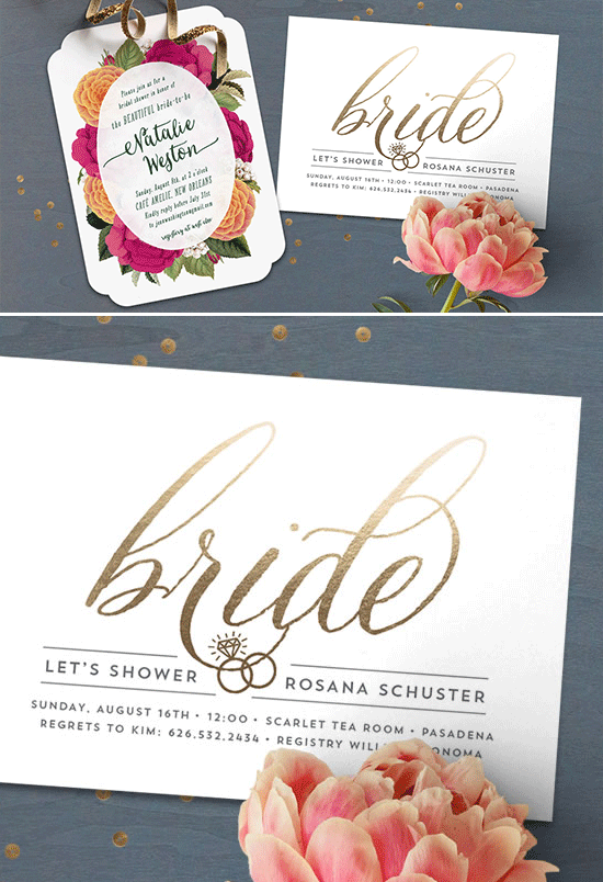 fancy bridal shower invite @weddingchicks