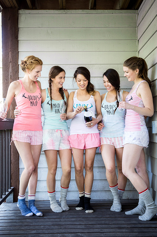 bridesmaid pajama sets @weddingchicks