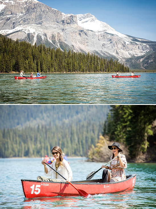 canoeing on the lake @weddingchicks