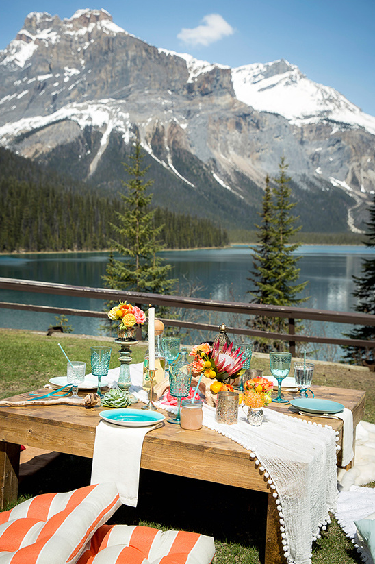 luncheon in the mountains @weddingchicks