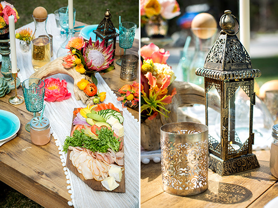colorful bohemian tablescape @weddingchicks