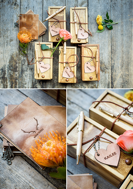 wooden bridesmaid gift box @weddingchicks