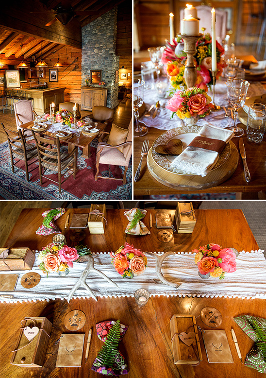 rustic bohemian reception ideas @weddingchicks