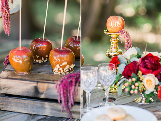 dessert table carmel apples @weddingchicks