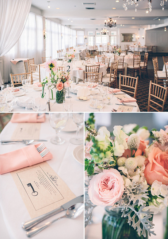 formal pink and white reception decor @weddingchicks