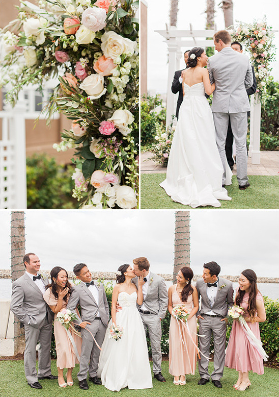 flower draped wedding arch @weddingchicks