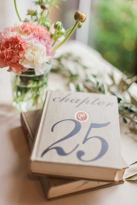 book table numbers @weddingchicks