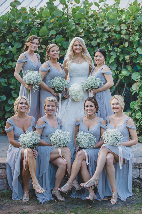 light grey bridesmaids @weddingchicks