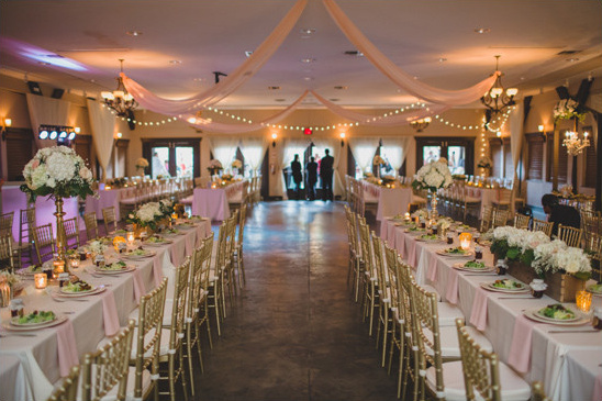 gold white and pink reception @weddingchicks
