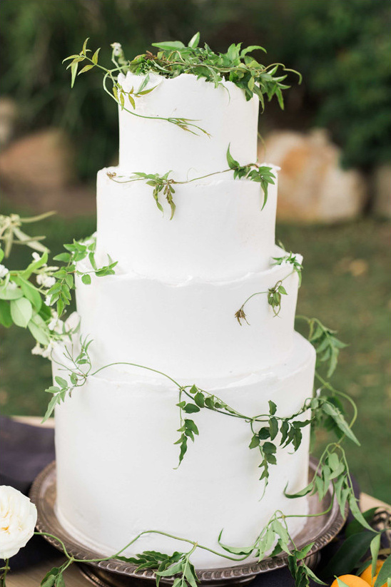 Garden Weddings Ideas Romantic spanish garden wedding ideas ivy accented wedding cake weddingchicks workwithnaturefo