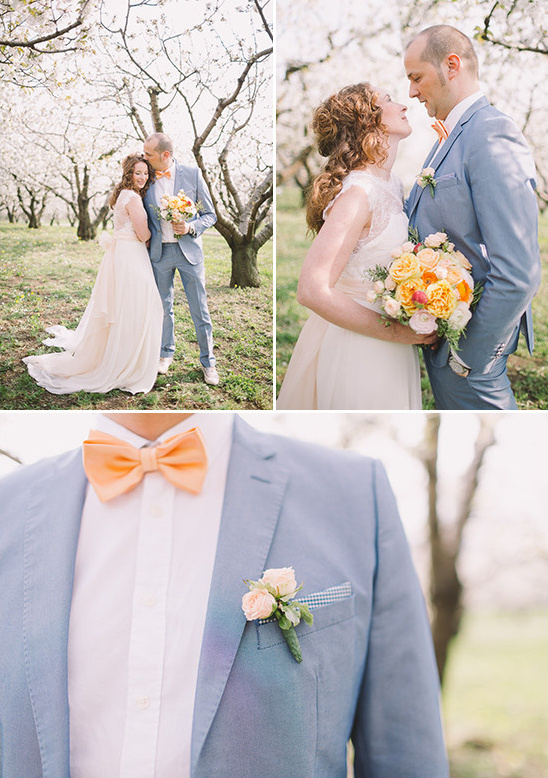 light blue and orange groom look @weddingchicks