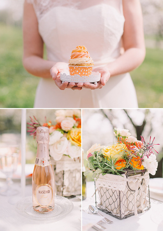 orange ombre details @weddingchicks