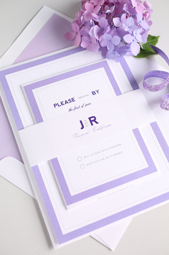 Clean, Simple Wedding Invitations From Shine Wedding Invitations  @weddingchicks
