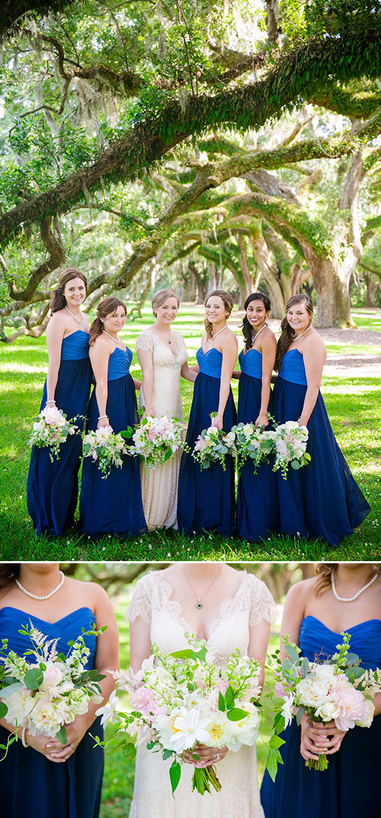 dark blue bridesmaids @weddingchicks