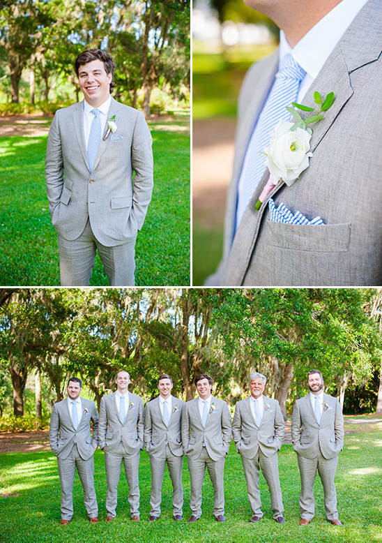light grey and blue groom look @weddingchicks