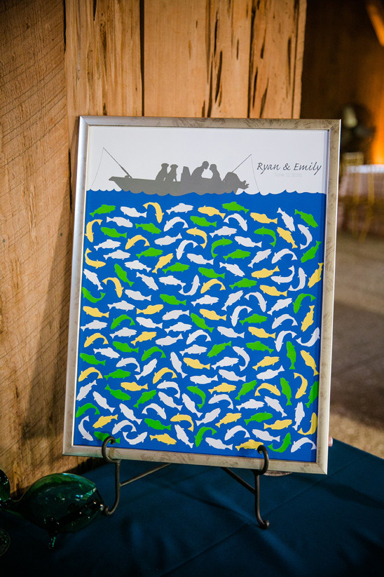 fishing guestbook @weddingchicks