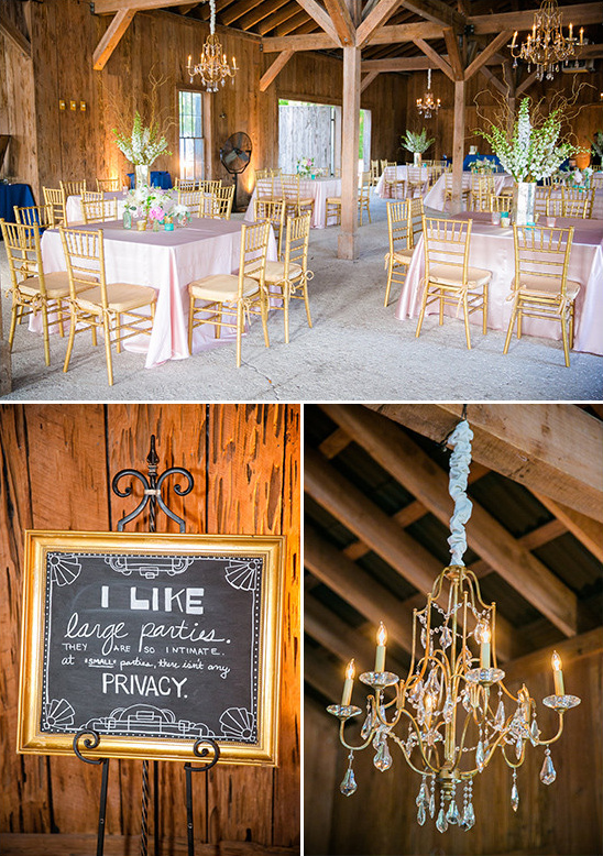 barn reception decor @weddingchicks