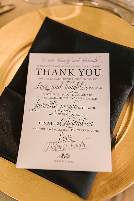 cute thank you note for guests @weddingchicks