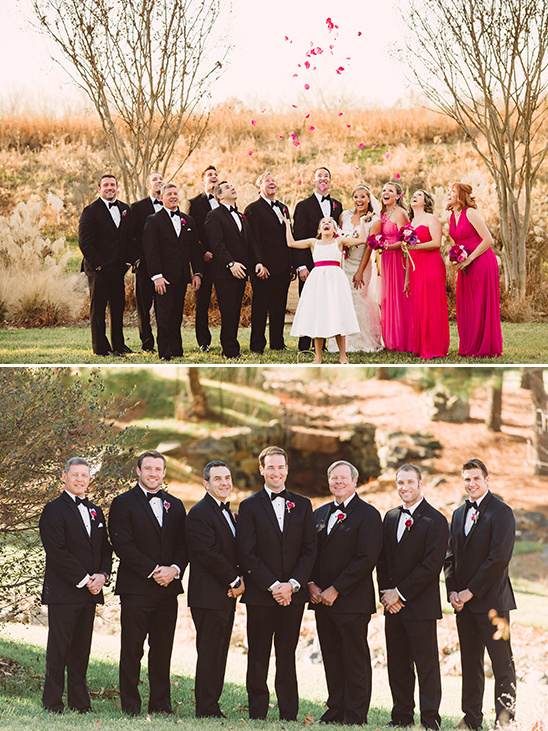 black and pink groomsmen @weddingchicks