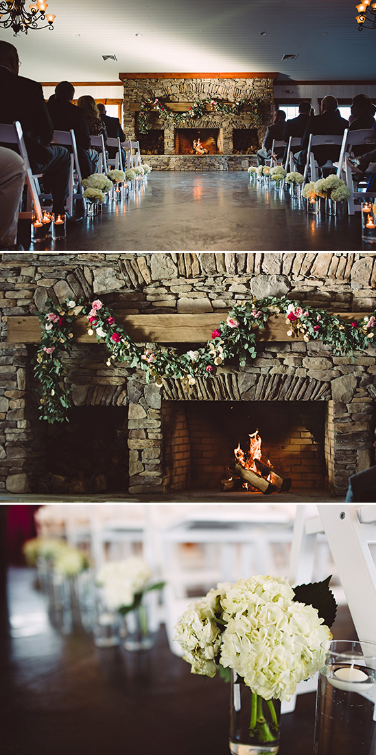 warm and cozy ceremony venue @weddingchicks