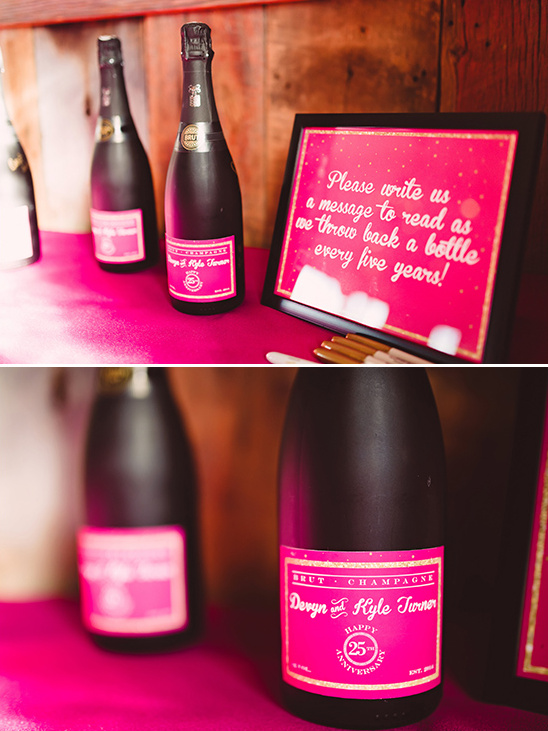 wedding anniversary champagne guestbook idea @weddingchicks