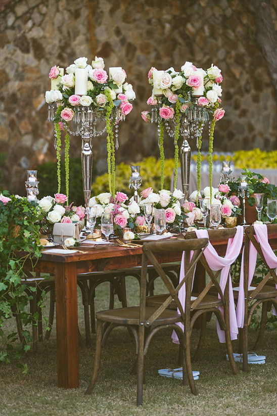 romantic rose reception ideas @weddingchicks