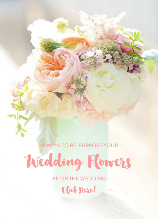 repurpose wedding flowers