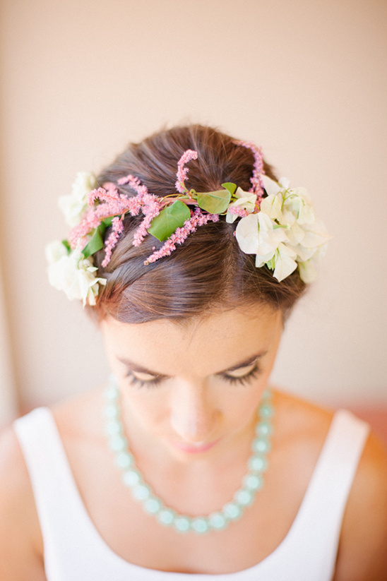 delicate floral crown @weddingchicks