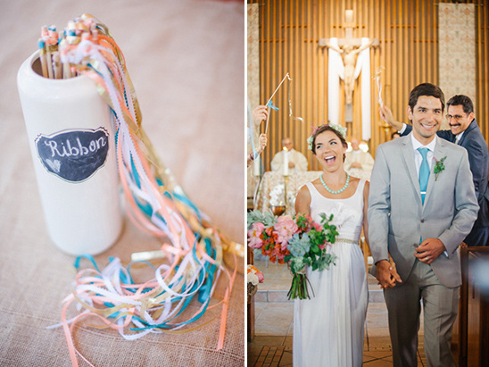 wedding ribbon streamers @weddingchicks
